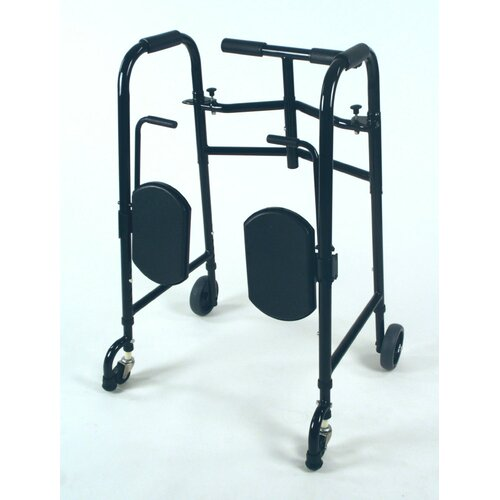 TFI Wheeled Double Button Folding Walker
