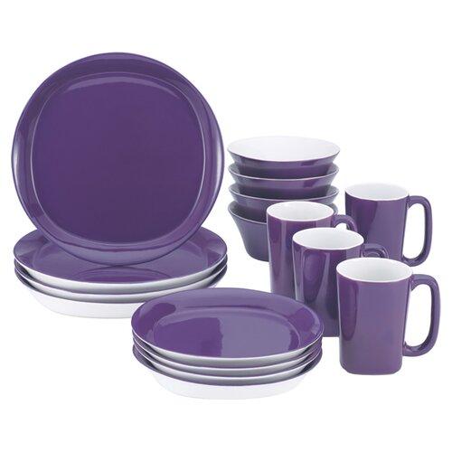 Rachael Ray Round and Square 16 Piece Dinnerware Set