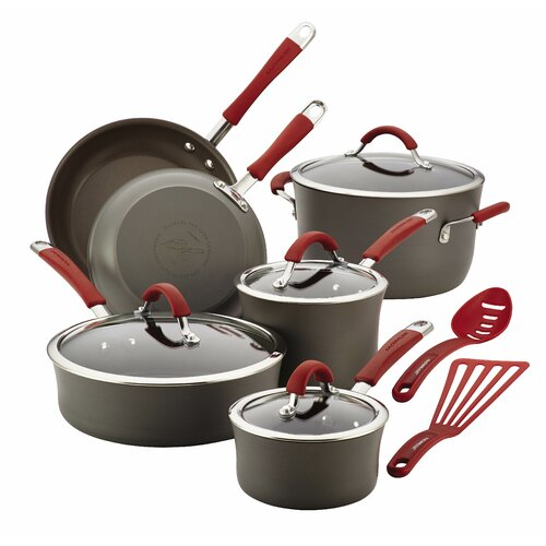 Cucina Hard Anodized Nonstick 12-Piece Cookware Set with Handle