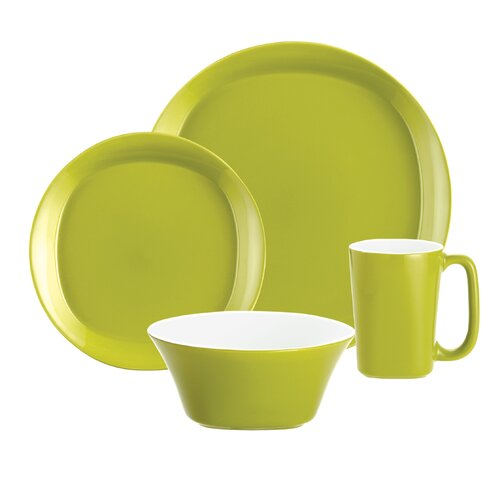 Rachael Ray Round and Square Dinnerware 4 Piece Place Setting