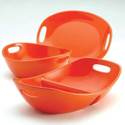 Rachael Ray Stoneware 3-Piece Serving Set