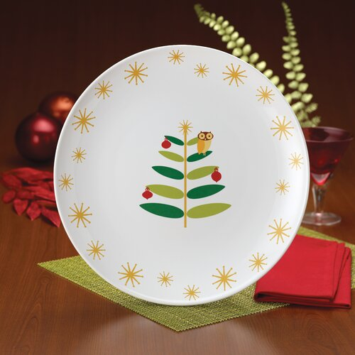 "Rachael Ray Holiday Hoot 14"" Round Platter"