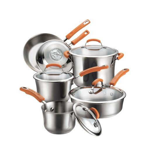 Rachael Ray Stainless Steel II 10-Piece Cookware Set