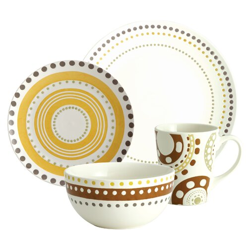 Circles and Dots 16-Piece Dinnerware Set