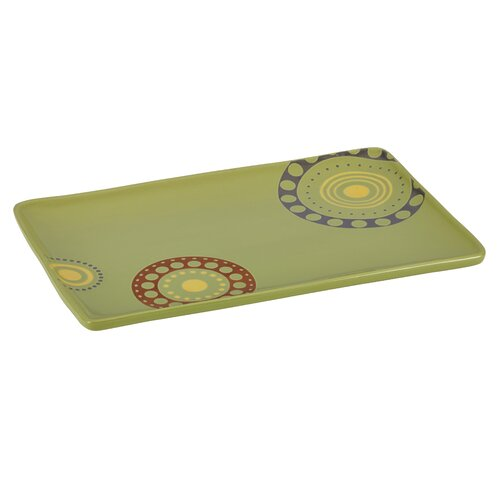 Rachael Ray Circles and Dots Rectangular Platter