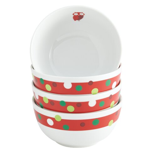 Rachael Ray Hoot's Decorated Tree Cereal Bowl