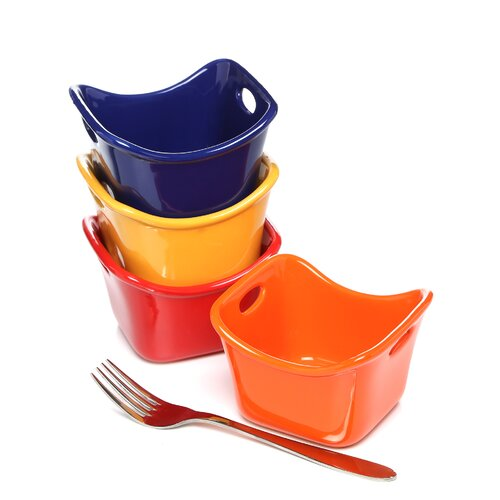 Rachael Ray Stoneware 10 oz. Square Ramekins (set of 4)