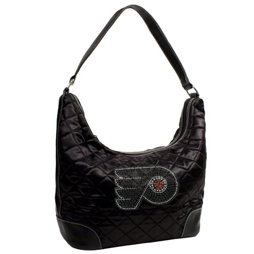 Little Earth NHL Sport Noir Quilted Hobo Bag
