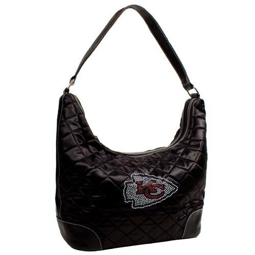 Little Earth NFL Sport Noir Quilted Hobo Bag