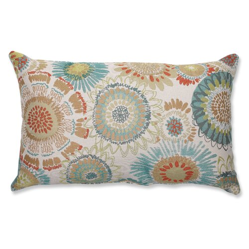 Maggie Mae Aqua Rectangular Throw Pillow