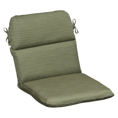 Pillow Perfect Outdoor Rounded Sunbrella Fabric Chair Cushion