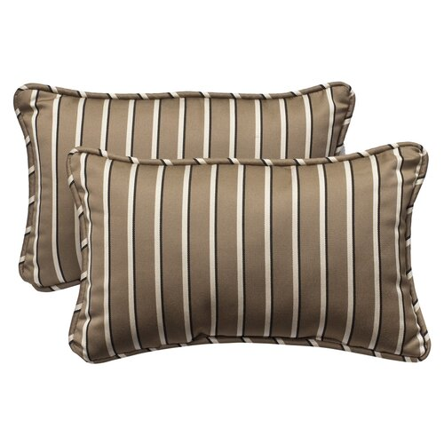 Outdoor Rectangle Sunbrella Fabric Toss Pillow (Set of 2)