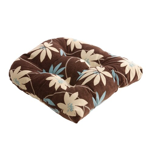 Flocked Floral Chair Cushion