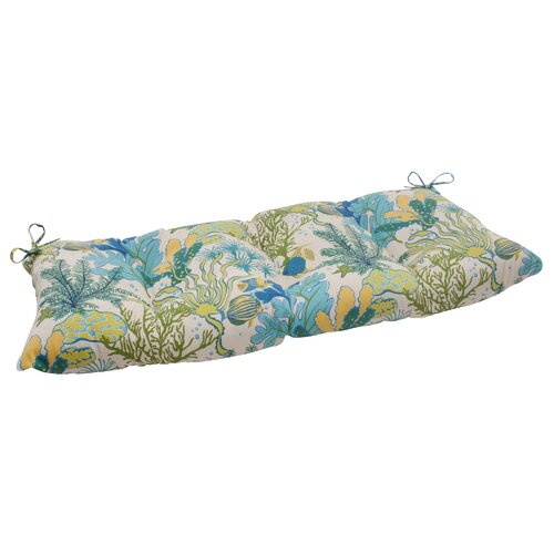 Pillow Perfect Splish Splash Tufted Loveseat Cushion