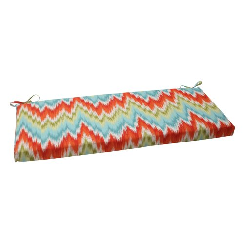 Pillow Perfect Flamestitch Bench Cushion