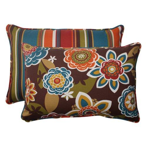 Annie / Westport Reversible Corded Throw Pillow (Set of 2)