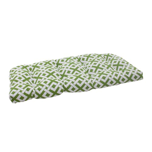 Pillow Perfect Boxin Wicker Loveseat Cushion