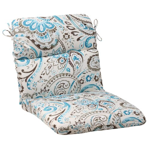 Pillow Perfect Paisley Chair Cushion