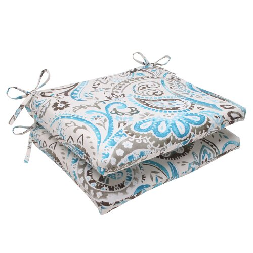 Pillow Perfect Paisley Seat Cushion