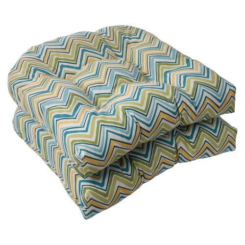Pillow Perfect Cosmo Chevron Wicker Seat Cushion