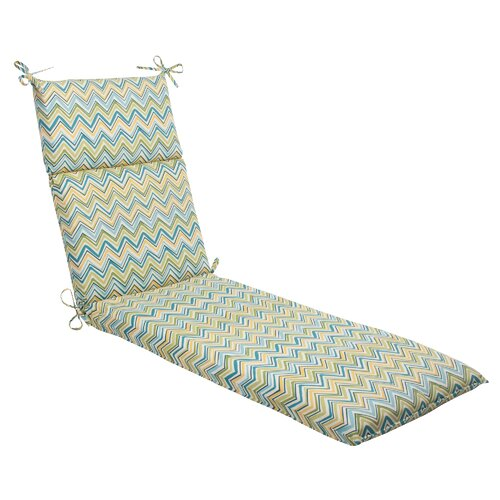 Pillow Perfect Cosmo Chevron Chaise Lounge Cushion
