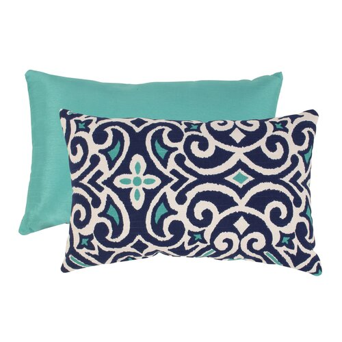 Pillow Perfect Damask Rectangular Throw Pillow