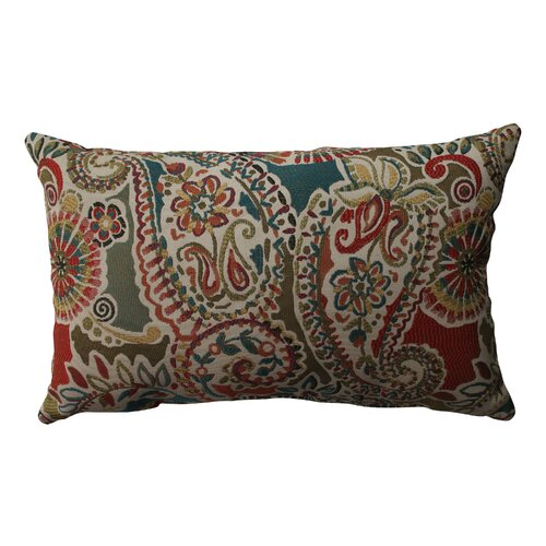 Pillow Perfect Piper Paisley Polyester Throw Pillow