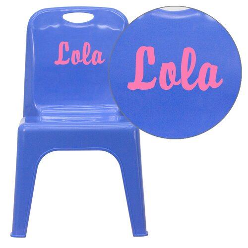 Flash Furniture Personalized Kids Stackable School Chair