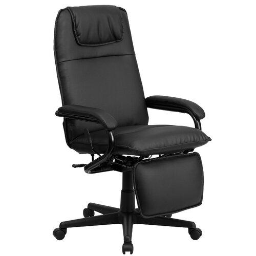 flashfurniture high back leather executive reclining