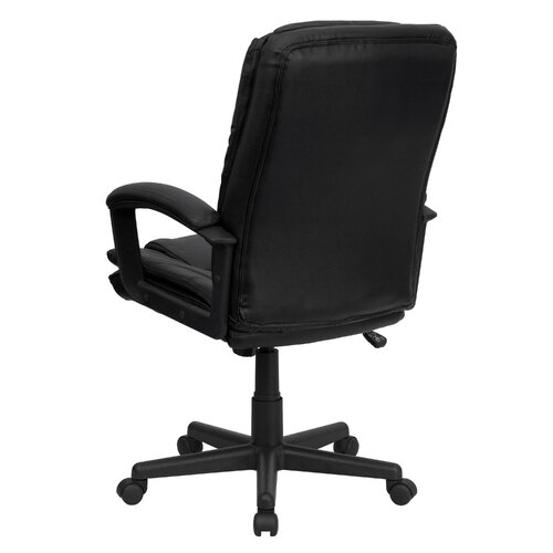 Flash Furniture High-Back Leather Executive Chair with Double Padded Cushions