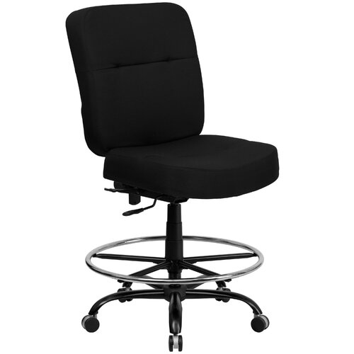 Flash Furniture Height Adjustable Hercules Series Big and Tall Drafting Stool with Extra Wide Seat