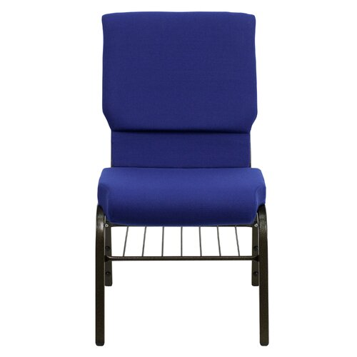 """Flash Furniture Hercules Series 18.5"""" Wide Church Chair with 4.25"""" Thick Seat Book Rack"""