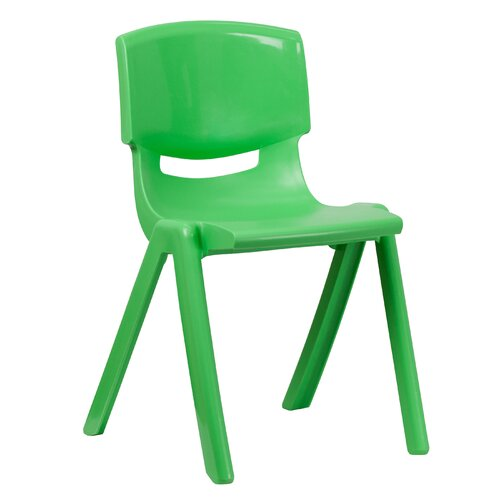 "Flash Furniture 18"" Plastic Classroom Stackable School Chair"