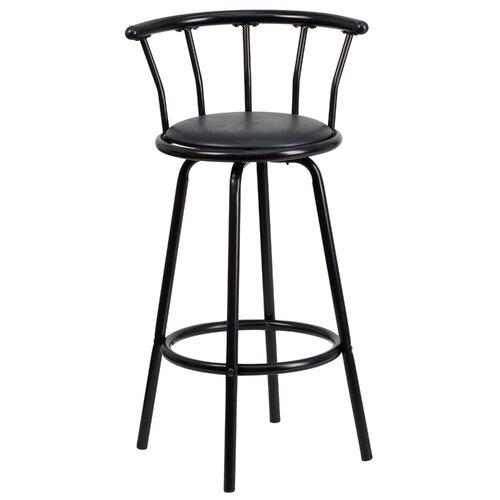 Flash Furniture 24 Swivel Bar Stool with Cushion  : Flash Furniture Crown Back 39 Swivel Bar Stool from wayfairsupply.com size 500 x 500 jpeg 24kB