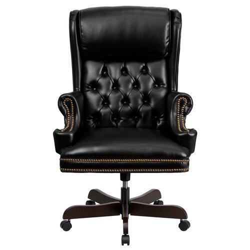 FlashFurniture High Back Leather Executive Office Chair Reviews Wayfair