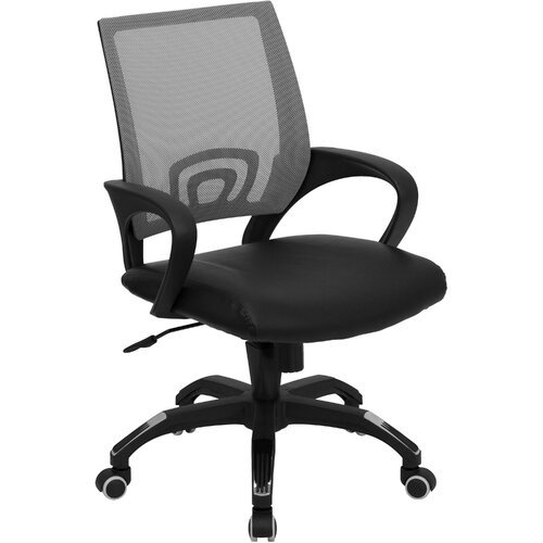 Flash Furniture Mid Back Leather Task Chair