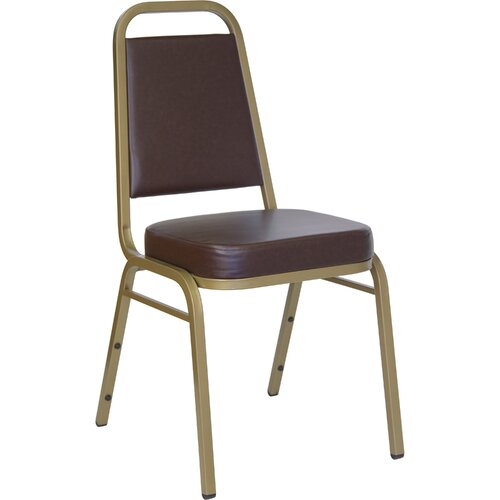 "Flash Furniture 2.5"" Hercules Series Trapezoidal Back Stacking Banquet Chair with Gold Frame"