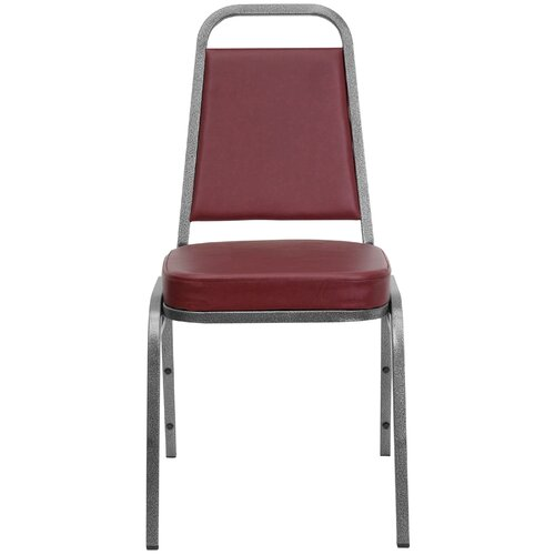 "Flash Furniture 2.5"" Hercules Series Trapezoidal Back Stacking Banquet Chair with Silver Vein Frame"
