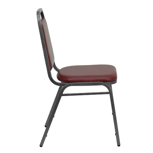 Flash Furniture Hercules Series Trapezoidal Back Stacking Banquet Chair with Silver Vein Frame