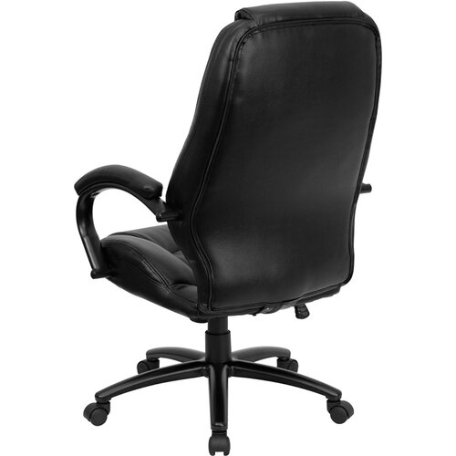 Flash Furniture High-Back Leather Office Chair with Dense Padding