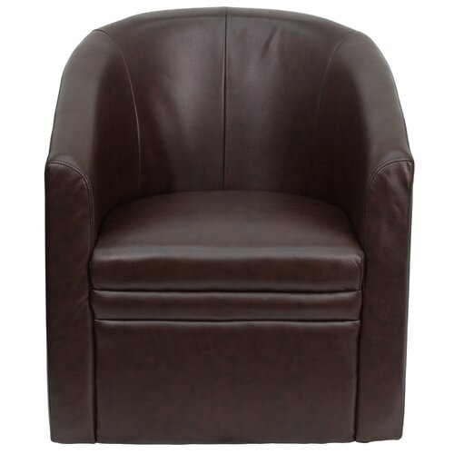 Flash Furniture Club Lounge Chair with Barrel Shape