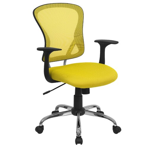 Flash Furniture Mid Back Mesh Office Chair with Chrome Base