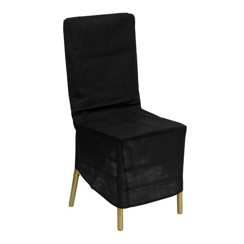 Flash Furniture Fabric Chiavari Chair Storage Cover in Black
