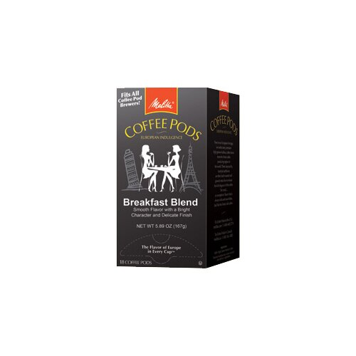 Melitta 18 Pods Breakfast Blend One Coffee Pods