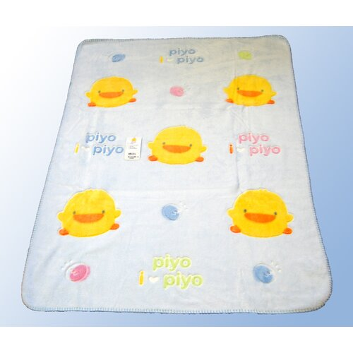 Piyo Piyo Children's Chenille Blanket in Blue