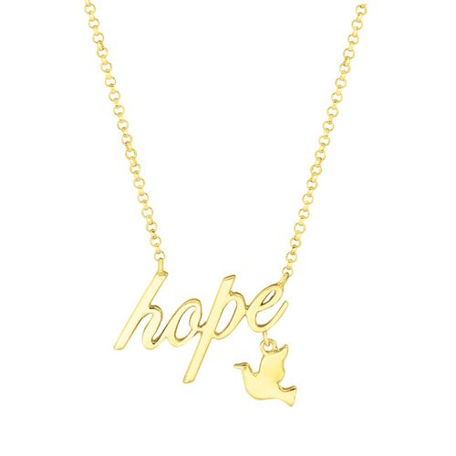 Expression Hope with Dove end Tag Necklaces
