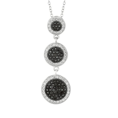 Sterling Silver Micro-Set Cubic Zirconium 3-Piece Graduated Drop Necklaces