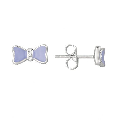 Sterling Silver and Enamel Bow Earring