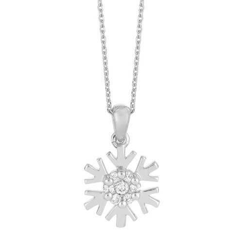 Juliette Collection White Gold Diamond Snowflake Necklace