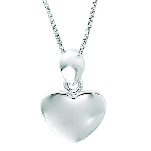 Juliette Collection Sterling Silver Heart Pendant Necklace